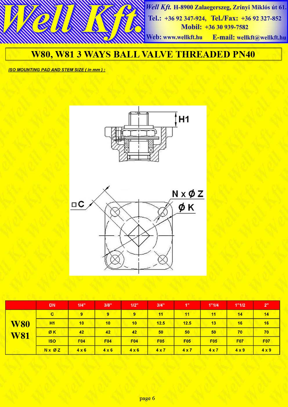 3 ways ball valve stainless steel threaded PN 40 (6.)