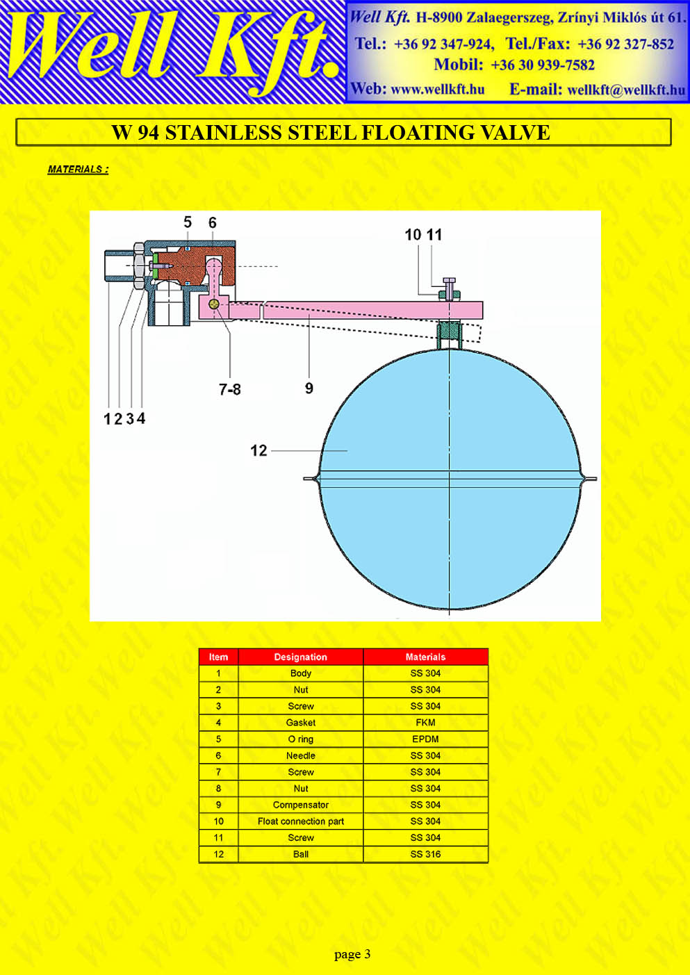 Floating ball valve stainless steel  (3.)