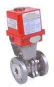 Stainless steel ball valve with  electric actuator 230 V