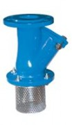 Check valve with strainer, flanged