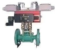 Ball valve, flanged, with manual gear