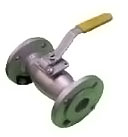 Stainless steel ball valve, flanged, manual switch lever