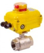 Brass ball valve with electric actuator 230V
