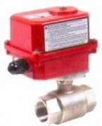 Brass ball valve with electric actuator