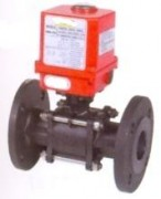 3 pieces flanged carbon steel ball valve with electric actuator