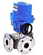 Stainless steel ball valve with electric actuator PN 16, WEG785L-786T