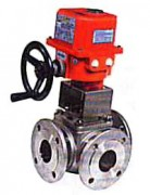 Stainless steel ball valve with electric actuator PN 16