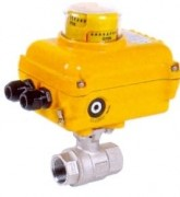 Stainless steel ball valve with electric actuator 230V