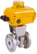 Split-body stainless steel ball valve with electric actuator