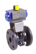 Carbon steel ball valve with pneumatic actuator PN 16
