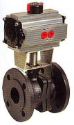2 pieces cast iron ball valve with pneumatic actuator WPG507