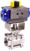 stainless steel ball valve with pneumatic actuator 3