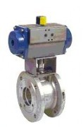 flanged stainless steel ball valve with pneumatic actuator