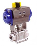 stainless steel ball valve with  pneumatic actuator PN 100