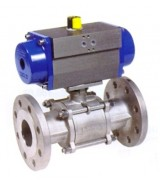 stainless steel ball valve with  pneumatic actuator PN 40
