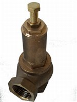 Spring-loaded safety valve, brass, threaded