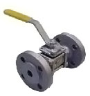 Ball valve, flanged, stainless steel, for gas