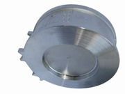 Stainless steel check valve between flanges