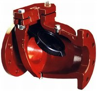 Check valve flanged, damper